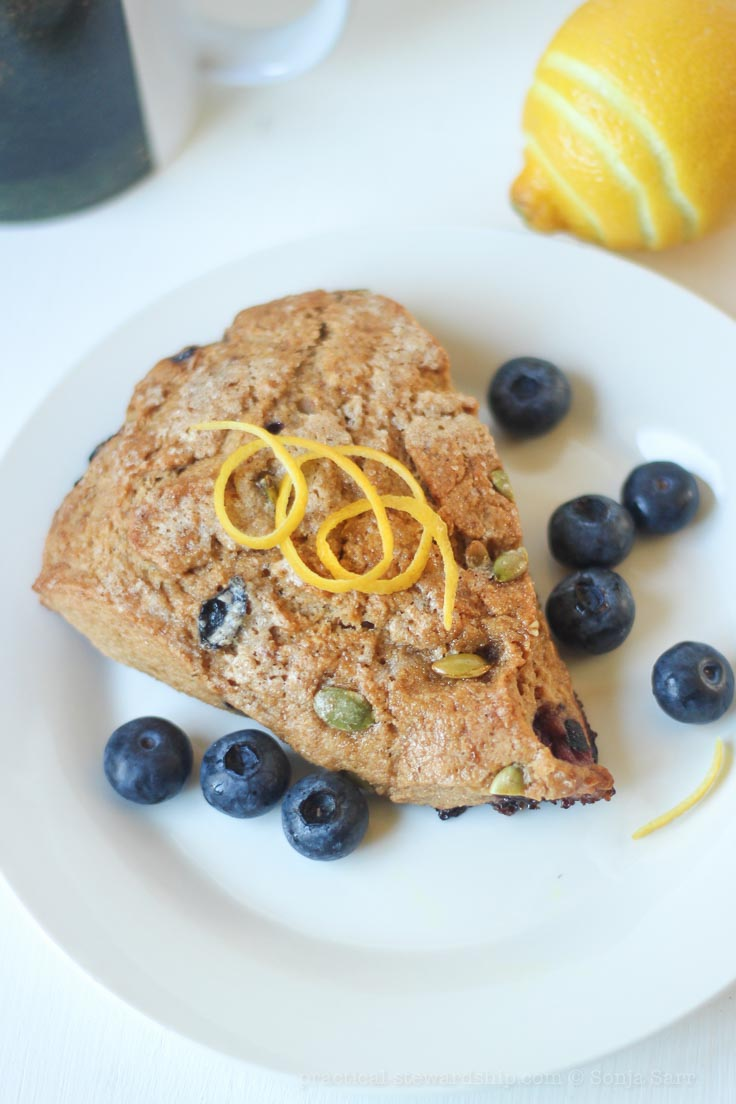 Recipe - Vegan-Lemon-Blueberry-Scone-5